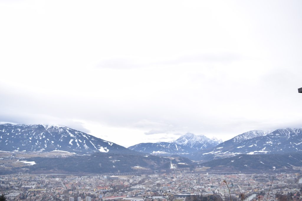 Innsbruck, lookout point, Norkette, cable cars