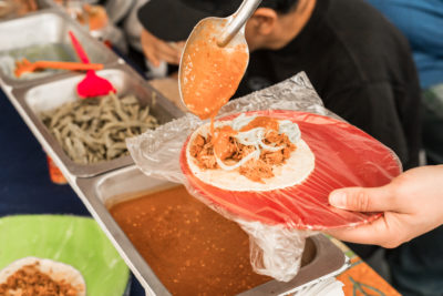 Some of the popular food in Mexico City is the street food in the San Juan Mercado.