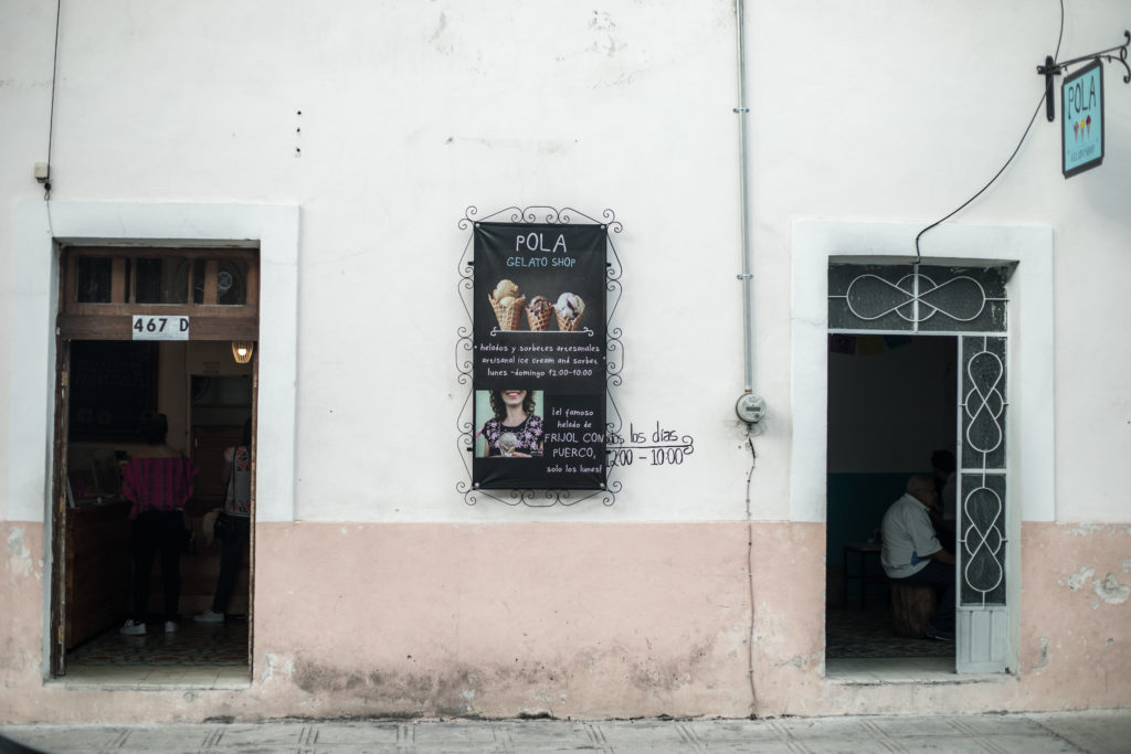 Living In Merida you can find delicious ice-cream downtown.