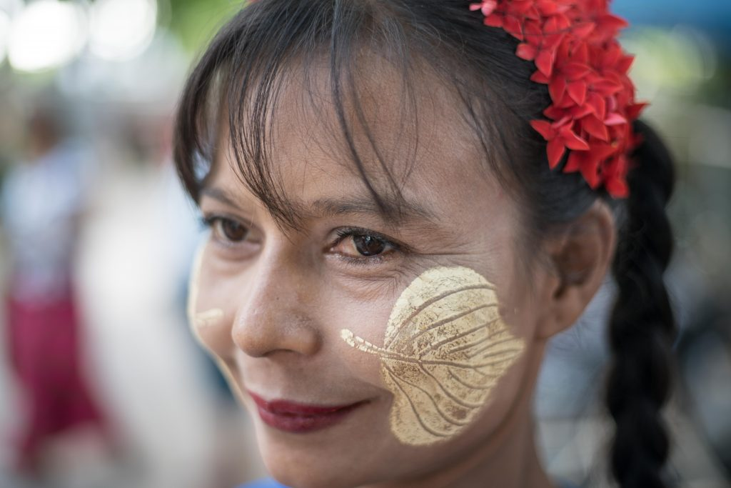 face paint, thanatkha, boat ride, thailand